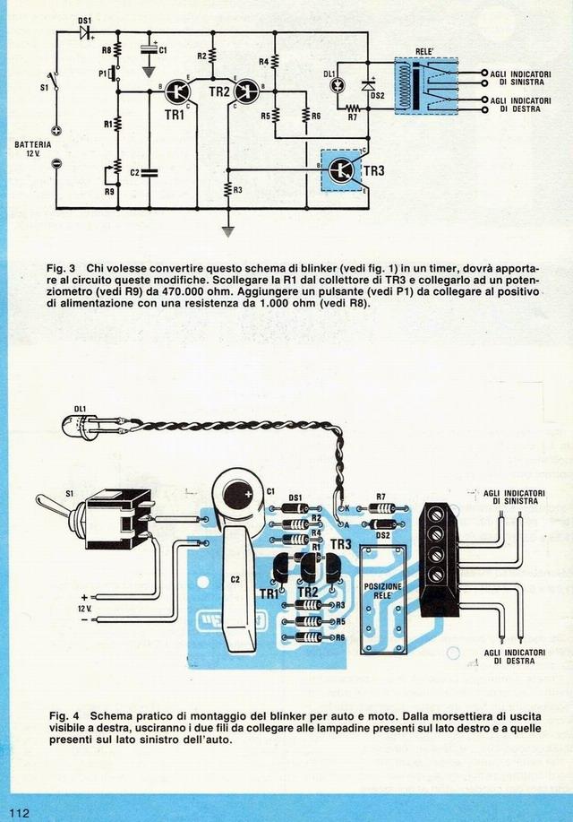 Schemi Elettrici Kit Nuova Elettronica : Blinker o luci di emergenza con il kit nuova elettronica