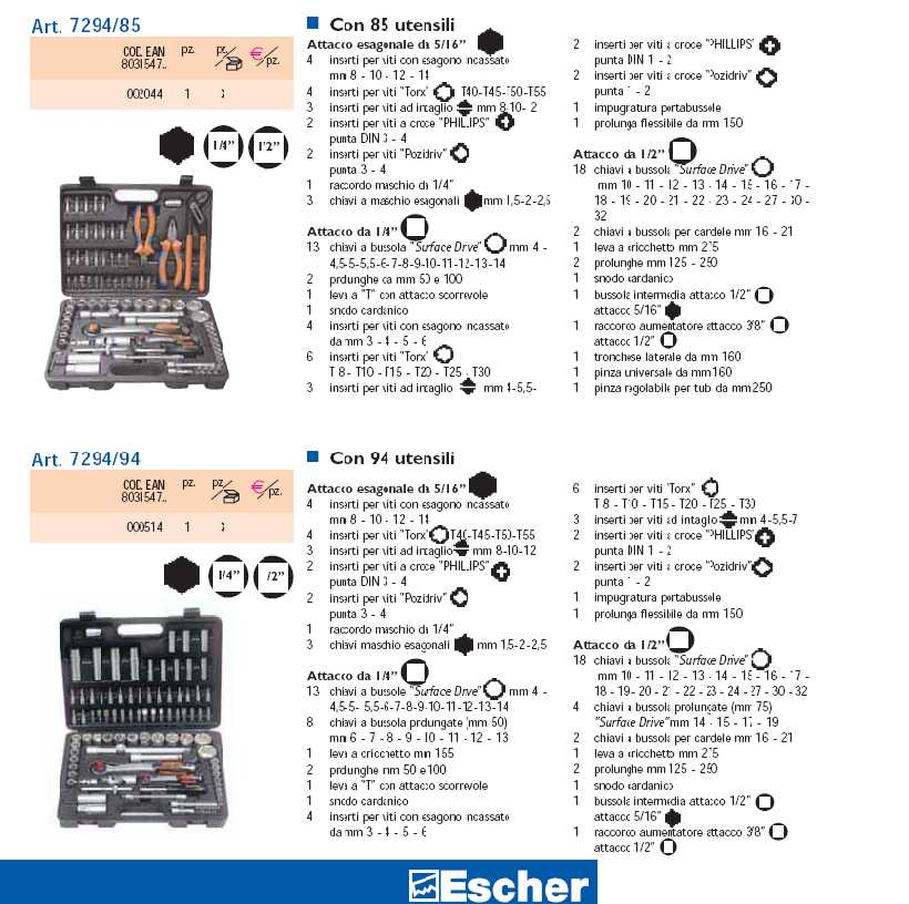 Escher utensili